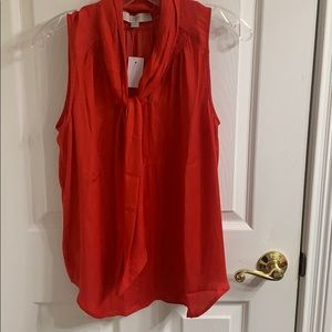 Sleeveless red top with tie new with tags